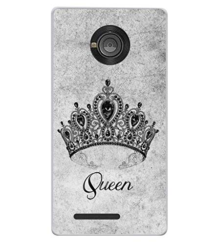 Bluethroat A Crown of A Queen with The Quote Designer Printed Soft Silicone Mobile Case Back Cover for Yu Yuphoria YU5010