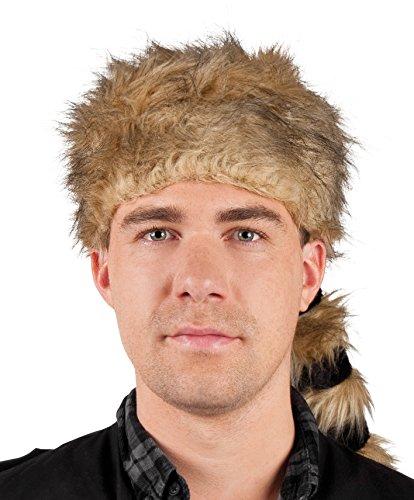 Waschbär Kostüm Zubehör - Boland 01360 - Erwachsenenmütze Alaska, Einheitsgröße, braun