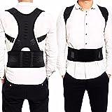 EasyBuy India Na, Black : Male Female Adjustable Magnetic Posture Corrector Corset Back Men Brace Back Belt Lumbar...