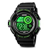 Mens-Digital-Watch-Sport-Wrist-Watch-Fashion-and-Big-Face-Dial-5-ATM-Water-Resistant-Green