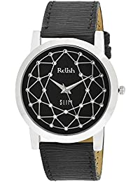 RELISH RE-S8023SB SLIM Black Dial Analog Watch For Mens & Boys