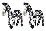 #7: Tickles White Madgascar Marty Zebra Stuffed Soft Plush Toy Love Girl (Pack Of 2) 15 cm