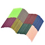 TOPELEK 80 Stück mehrfarbige Heißklebestifte,vielfarbige Heißklebepatronen Heißklebesticks Heiße Schmelzklebestifte