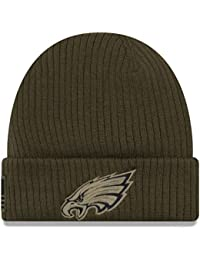 00760a0ff77 New Era Philadelphia Eagles Beanie On Field 2018 Salute to Service Knit  Green - One-