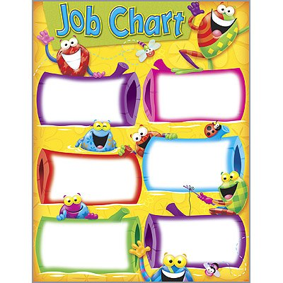 Wipe-off  Colourful Fun Frog Design Job Chart Poster   Wipe off surface exclusive to C Capers