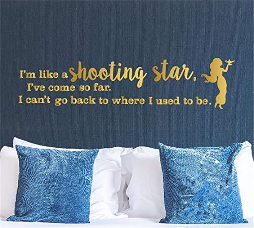 wandaufkleber f Ich bin wie eine Sternschnuppe. Ich bin so weit gekommen, dass ich nicht dorthin zurückkehren kann, wo ich früher für Mädchen war