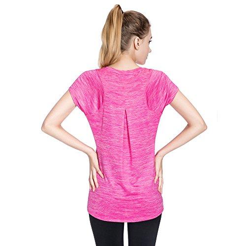 SPECIAL MAGIC T-shirt à manches courtes à manches courtes à manches courtes à manches courtes pour femme Rose Red