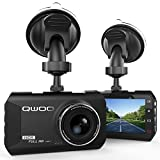 """Dashcam HD AutoKamera, Qwoo Dash cam 3.0"""" LCD Full 1080P HD DVR mit 170°A + Weitwinkelobjektiv, Bewegungserkennung, G-Sensor, WDR, Parkschutz , Loop Recording, Nachtsichtgerät, 24 Stunden Überwachung"""