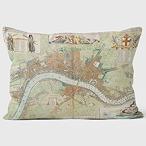 1680Londres Mapa biblioteca cojines