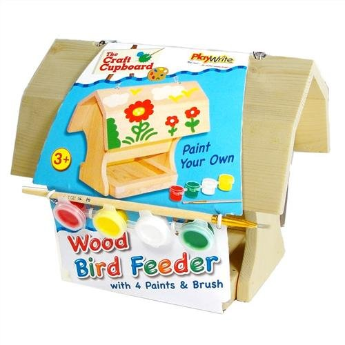 Paint your own Wood Bird Feeder with paints and brush