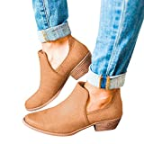 TianWlio Stiefel Frauen Winter Schuhe Stiefeletten Boots Mode Leder Ankle Schuhe Roman Martin Kurze Stiefel Bootie