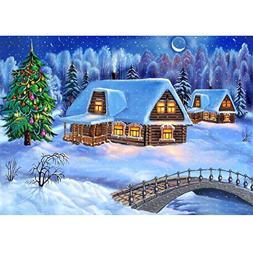 Smart Diamond Painting House Needlework Diamond Mosaic Diamond Embroidery Snow Scenery Pattern Hobbies And Crafts Home Decor Cool In Summer And Warm In Winter Diamond Painting Cross Stitch Home & Garden