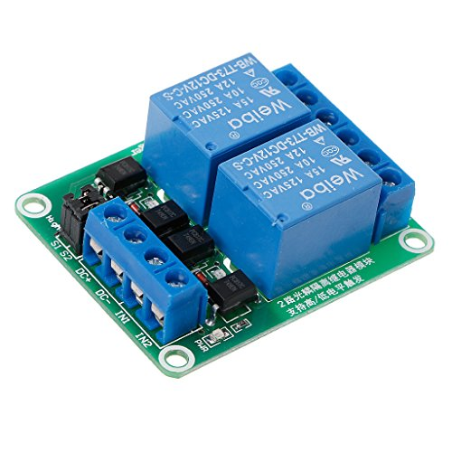 BIlinli 12V 2 Channel Relay Module High and Low Level Trigger with Optocoupler Isolation -