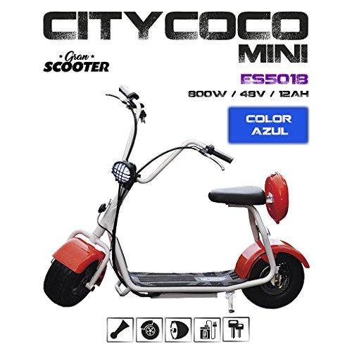 CityCoco MINI 800W/48V/12aH/Litio Azul Gran-Scooter