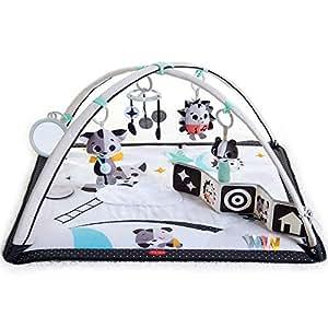 Tiny Love Black And White Gymini d'éveil pour bébés et enfants avec arcs réglables, jeux de musique et grelots, livre en tissu