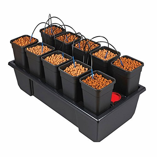 Pot Dripper-system (Wilma Small Wide 10 x 6 Litre Pot Hydroponic Dripper System + Black Orchid Pro Timer by Wilma)