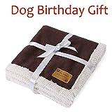 Pro Goleem Luxuriöse, weiche warme Hundedecke für Haustierbett, Auto, Transportkäfig (M, 100x 80cm)
