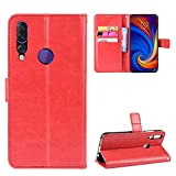 for Lenovo Z5s Case, Slim Wallet Case PU Leather Shockproof