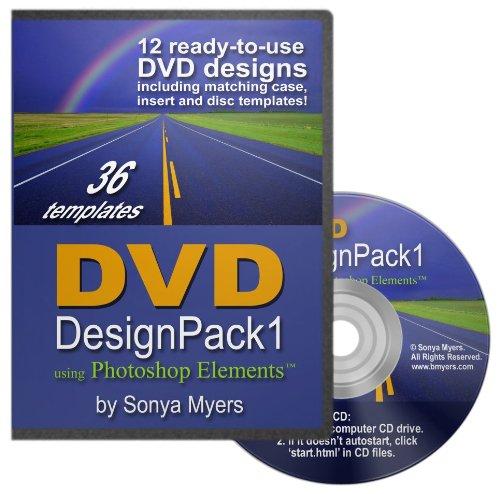 Preisvergleich Produktbild DVD Case Templates Design Pack 1 for PhotoShop Elements