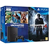 PlayStation 4 Slim (PS4) 1TB - Consola + Uncharted Collection + Uncharted 4