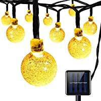 Festival Solar String Lights for Garden Home Party Holiday Wedding Indoor Outdoor, Warm White 30 LEDs Globe Crystal Ball Waterproof Fairy Light