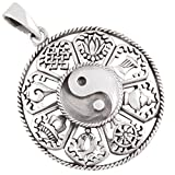AFP Anhänger Yin Yang 925 Sterling Silber AS-615