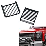 XUNJIAJIE Metal Black LED Headlight Cover Guard Grille for 1/10 RC Crawler Car Traxxas TRX-4 Trx4