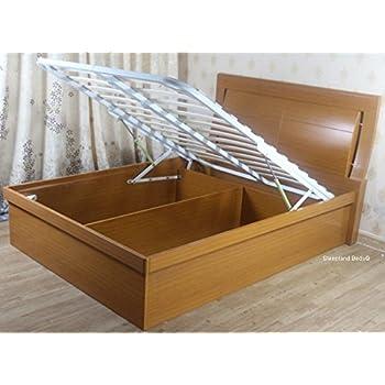 Awesome Sleepland Beds Meridian Beech Wooden Ottoman Bed 4Ft 6 Beatyapartments Chair Design Images Beatyapartmentscom