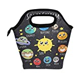 Use7 Solar System Planet Space Insulated Lunch Bag Tote Bag Cooler Lunchbox Handbag