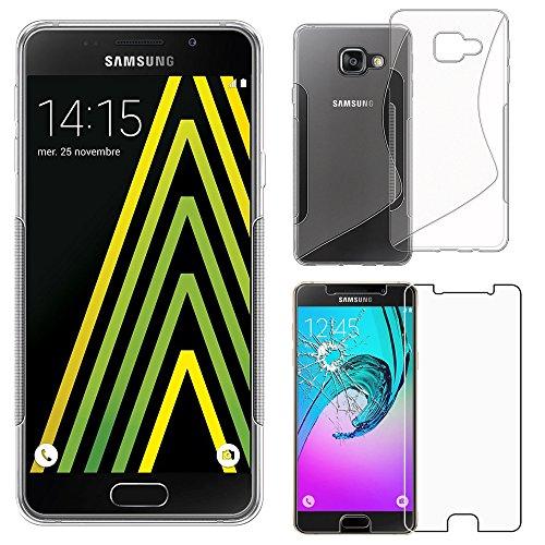 """ebestStar - Compatibile Cover Samsung A5 2016 Galaxy SM-A510F Custodia Protezione S-Line Design Silicone Gel Morbida Sottile, Trasparente +Pellicola Vetro Temperato [Apparecchio: 144.8x71x7.3mm 5.2""""]"""