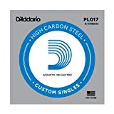 D'Addario PL017 Corda Singola Elettrica-Acustica Plain Steel