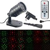 Lunartec Laser-Lichtprojektoren: Motiv-Laser-Projektor mit 6 Muster, Timer, Fernbedienung, IP65 (Wetterfester Laser-Projektor)