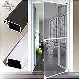 Insektenschutztür Alu Rahmen System für Türen 120x240cm weiß
