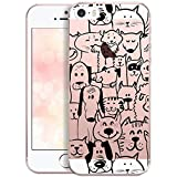 OOH!COLOR Design Coque pour IPHONE 5 et 5S, SE Case Silicone MPA142 Animal Comic avec...