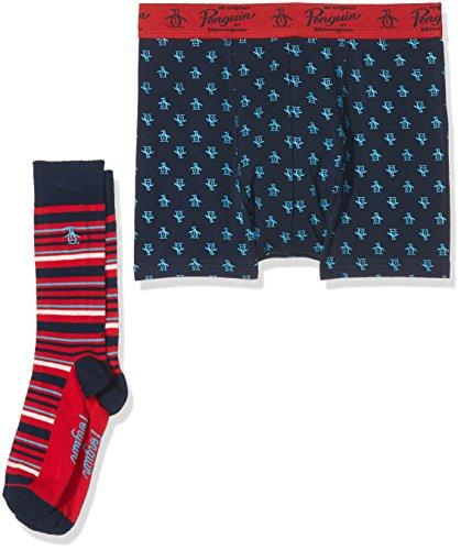 Original Penguin Herren Boxershorts, 2er Pack blau (marineblau)