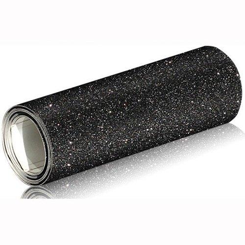 Preisvergleich Produktbild Autofolie Glitzerfolie Effektfolie 7.89€/m² Selbstklebend Blasenfrei 1mx152cm Schwarz (1mx152cm)