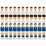 22x Tischfußball Figuren für 13 mm Stangen, für VOLLSTANGEN + HOHLSTANGEN, inkl. Schraubensatz, Tischkicker Kicker