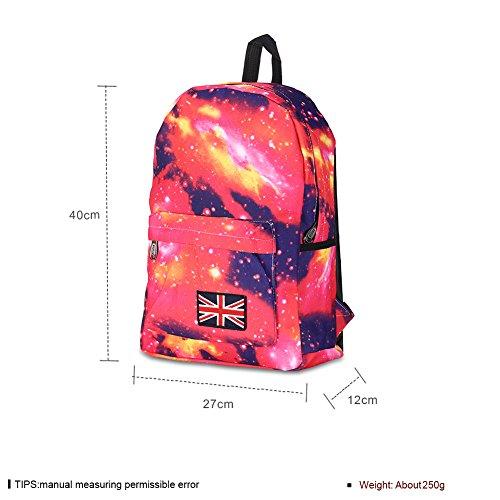 Sac à dos à capuche motif étoile/[sac à dos unisexe]-Noir rouge