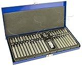 Juego de 40 + 2 Bits Torx, Hex y XZN Spline en maletín de aluminio....