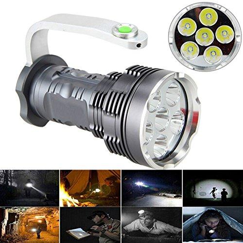 Wiederaufladbare LED Suchscheinwerfer taktische Taschenlampe 6T6 Spotlight 8000 Lumen
