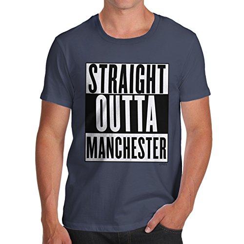 Herren Straight Outta Manchester T-Shirt Marineblau
