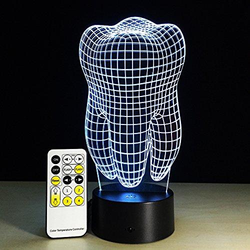 Dental Nachtlicht Variable Stimmungslichter dekorative Lichter mit Fernbedienung oder Touch Krankenhaus Dekoration