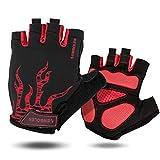 Qianliuk Mens Womens halbe Finger Handschuhe Sommer Sport Bike Handschuhe Nylon Mountainbike Fahrrad Handschuhe Radfahren
