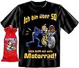 T-Shirt ueber 50 Motorrad Groeße M + Flaschenbeutel
