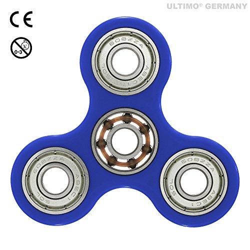 Fidget spinner, spinner manuale, giocattoli antistress, modello classico da ultimo® germany (dimenare, agitare, distrarre, stress) (blu)