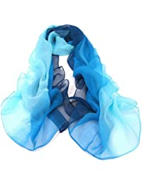 Zehui Gradient Color Wrap Ladies Shawl Silk Chiffon Scarf Scarves