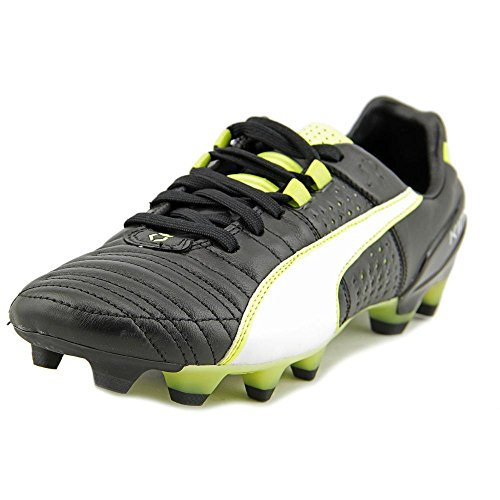 Puma King II FG Soccer Cleats Synthétique Baskets Black-White-Yellow