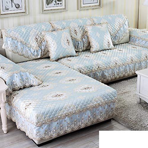 Sofa Schonbezug Loveseat Couch Sofa Sofabezüge Soft Couch Schonbezug Universeller Rutschfester Stoff Einfacher Bezug All-Inclusive-Handtuch Schonbezug Staubdicht Waschbar, für Wohn- und Schlafzimmer -