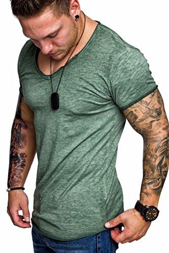 e94354117bdae6 Ehpow T Shirt Herren Rundhals Kurzarm T Shirt Slim Fit T-Shirt Oberteile  (Grün