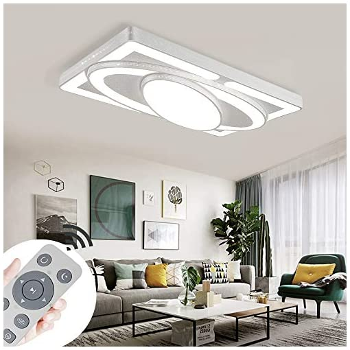 MYHOO 78W LED Plafoniera lampada da soffitto Regolabile plafoniera corridoio plafoniera soggiorno plafoniere bagno [Classe di efficienza energetica A++]